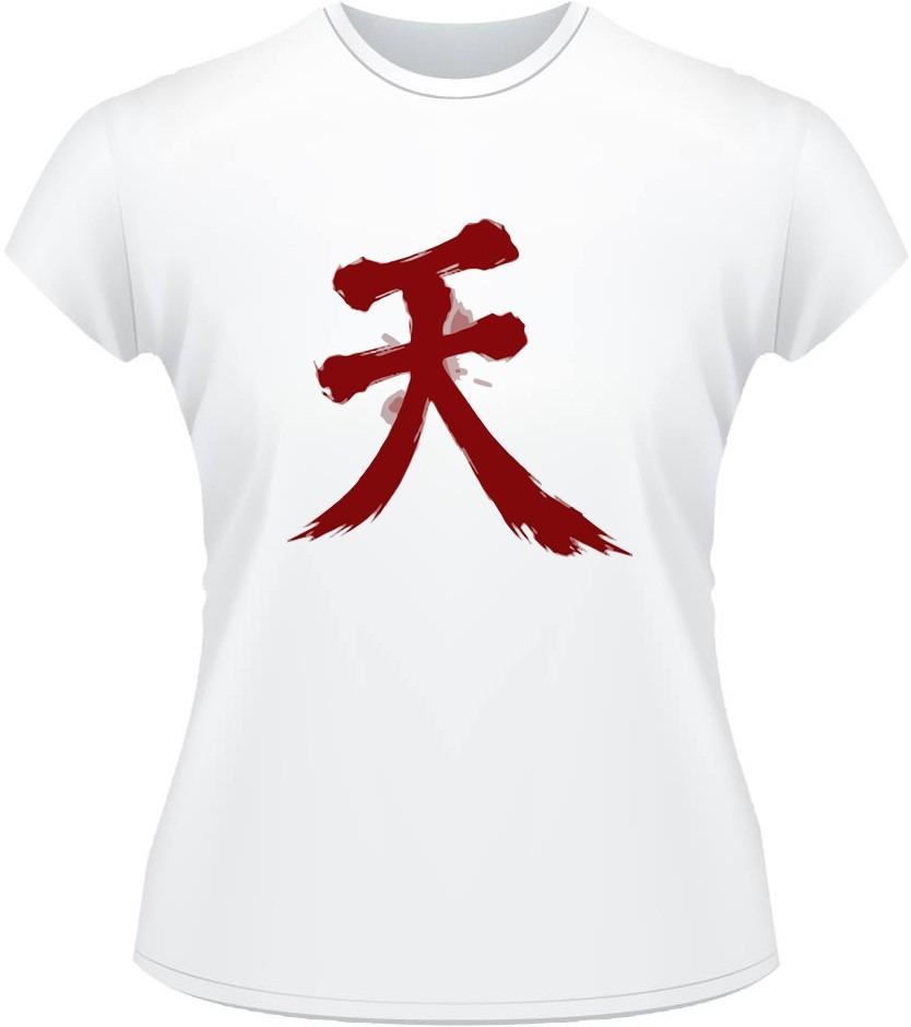 Baby Look Street Fighter Akuma Symbol Ryu Ken Game Camiseta R 34