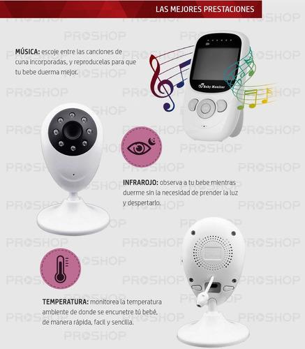 baby monitor seguridad bebes intercomunicador camara sp880