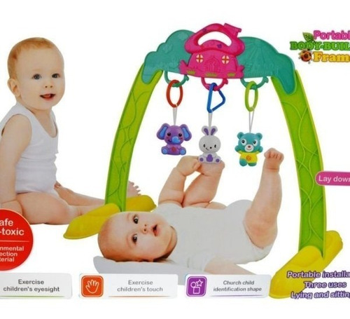 baby portable body-building frame gym bebe juguete ref 710