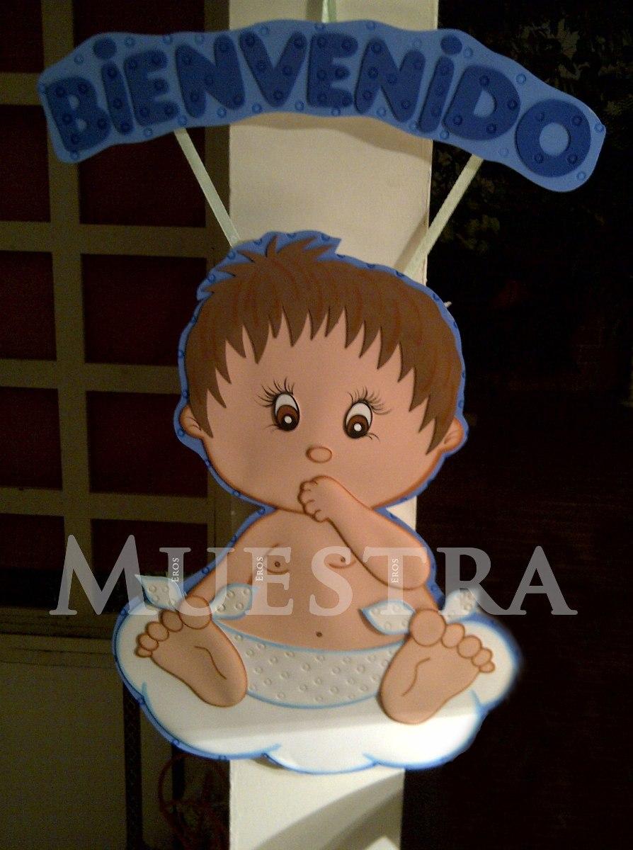Baby shower bebe bienvenidos nacimiento decoraci n en for Adornos para pieza de bebe