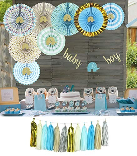 Decoracion De Baby Shower Para Nino.Baby Shower De Yara Elefante Decoraciones Para Nino Azul