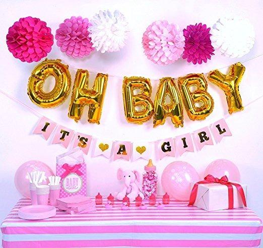 Baby Shower Decoracin Kit Para Nia 133895 En Mercado Libre