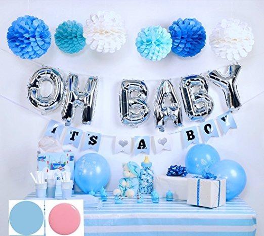 Baby Shower Decoracin Kit Para Nio 144195 En Mercado Libre