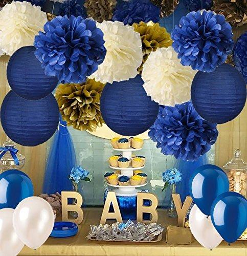 Baby Shower Boy Decoracion.Baby Shower Decoraciones Para Boy It S A Boy Banner Pompones