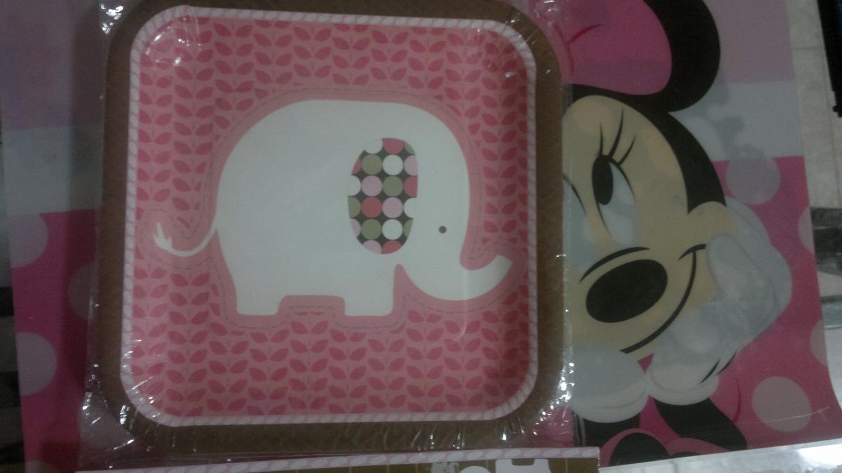 Baby Shower Elefante Rosado ~ Baby shower elefante rosa manteleria 1er año niña jungla bs. 1.290