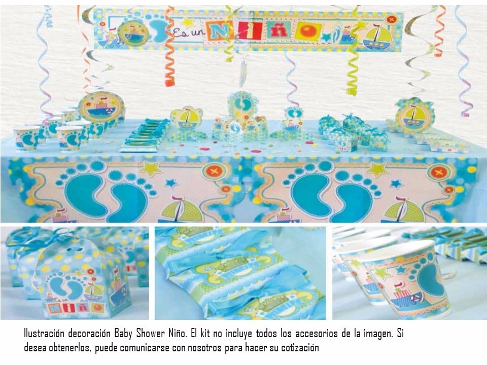 Baby shower es un ni o decoracion fiesta en for Fiesta baby shower decoracion