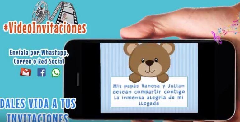 Invitacion Digital En Video Para Baby Shower 182 00 En Mercado Libre