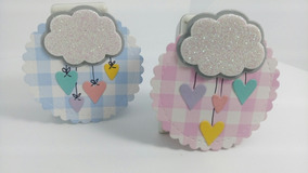 Decoracion De Nubes Para Baby Shower.Distintivos Y Recuerditos De Baby Shower Nina Decoracion