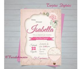 Baby Shower Tarjeta Invitación Digitales Personalizad