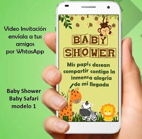 Baby Shower Video Tarjeta Invitacion Digital Audio Video