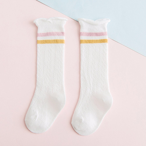 baby socks summer breathable mesh knee high boys girls socks