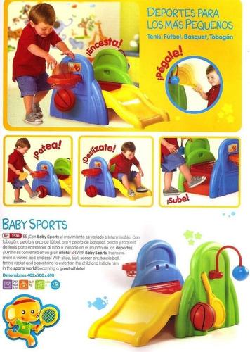 baby sports rondi tobogan deportes actividades bebe plástico