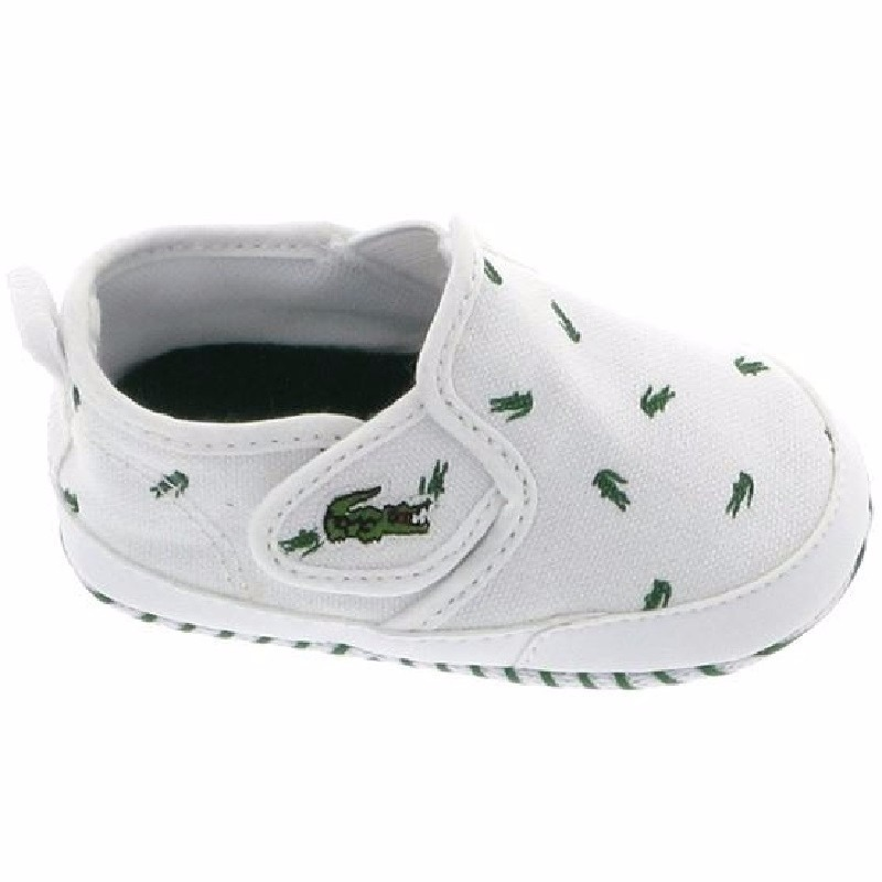 116 2: Baby Tenis Lacoste Gazon 116-2 Bebes De Cuna Blanco Verde