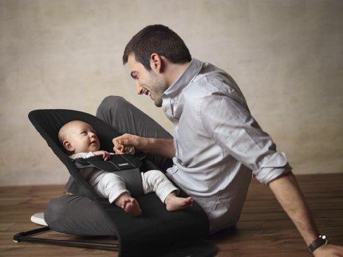 babybjorn bouncer balance soft blackdark grey cotton