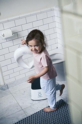 babybjorn toilet trainer, blanco / gris