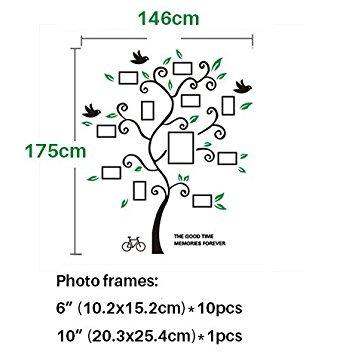 Babycare Pro Family Tree Pattern Photo Frame 3d Wall Sticke ...