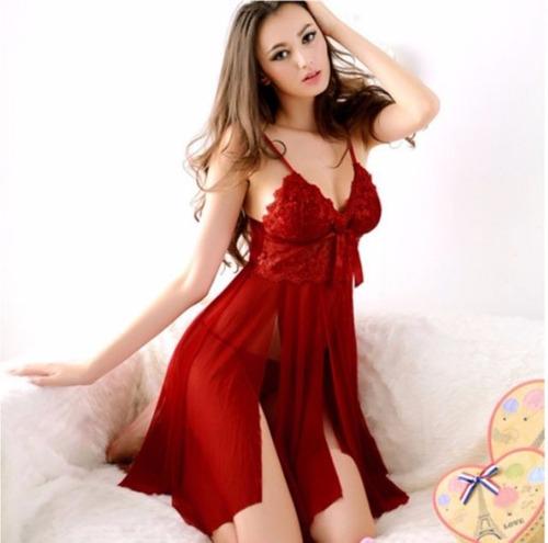 babydoll rojo hilo cama amor sexo encaje lenceri kamelia.me