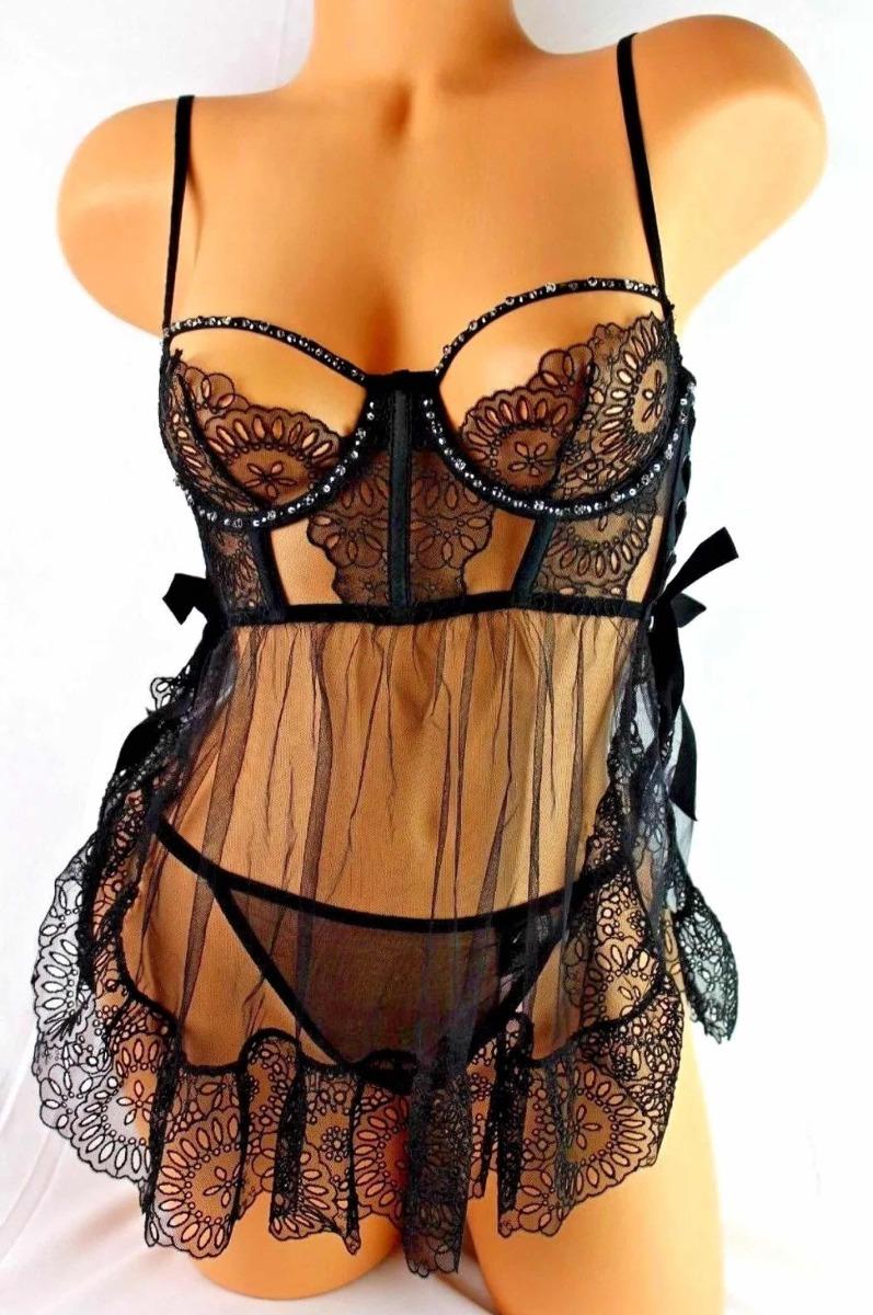 más fotos claro y distintivo colección de descuento Babydoll Sexy Lenceria Victoria's Secret