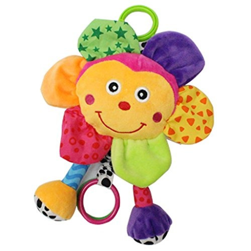 babyfans brillante color bebé juguetes plush big face en fo