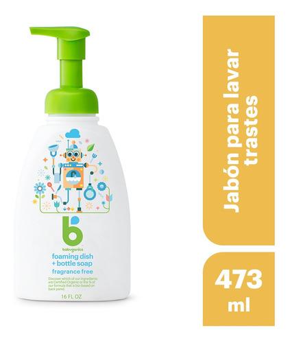 babyganics jabón para lavar trastes sin fragancia 473ml