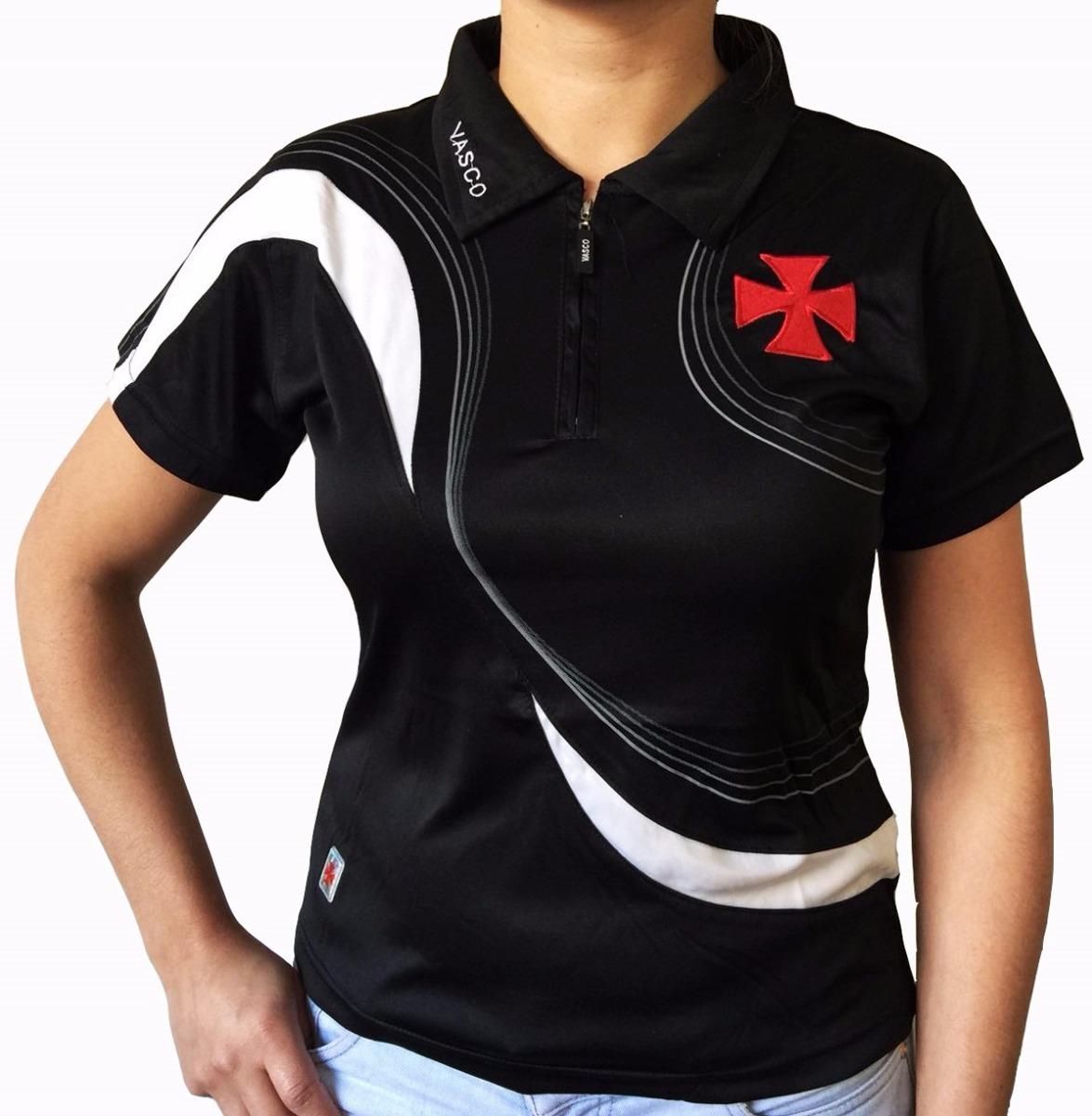 babylook vasco feminina torcedora camiseta preta. Carregando zoom. 9612ce47cc6ca