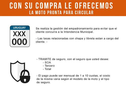 baccio px125 f motos moto nueva 0km 2020 + obsequios fama