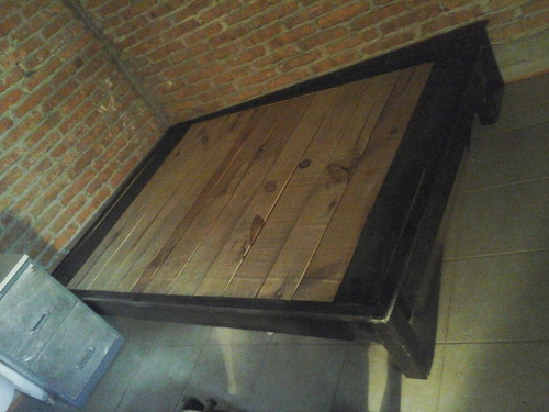 bace de cama matrimonial madera pino