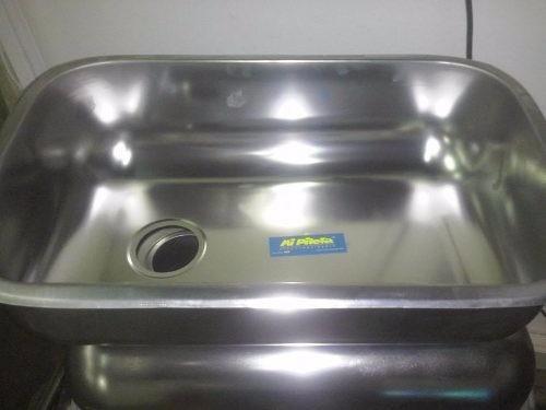 bacha acero inoxidable simple cocina 52x32x14- mi pileta