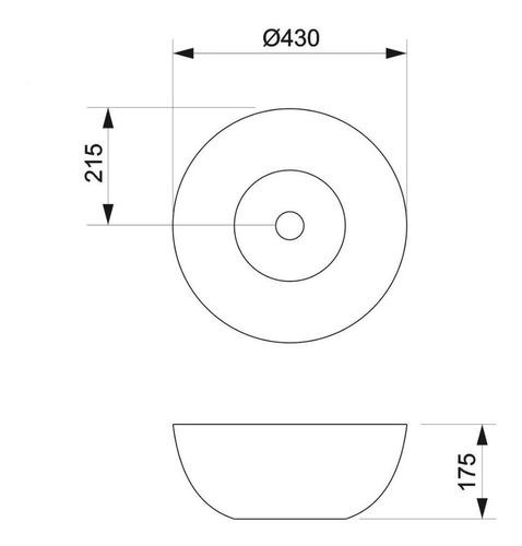 bacha apoyo piazza a013 redonda 42 x 42 x 17 cm