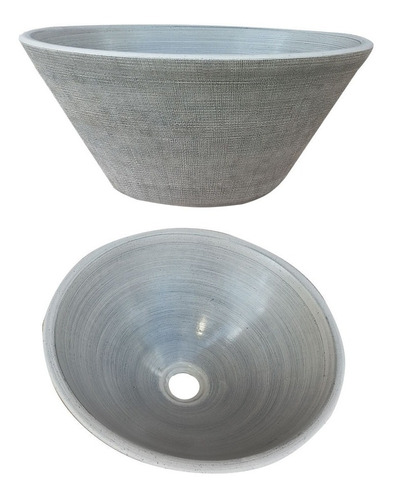 bacha apoyo tela gris fango 35 cm vanitory baño oferta envio