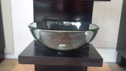 bacha baño apoyo  30 cm vidrio  incoloro