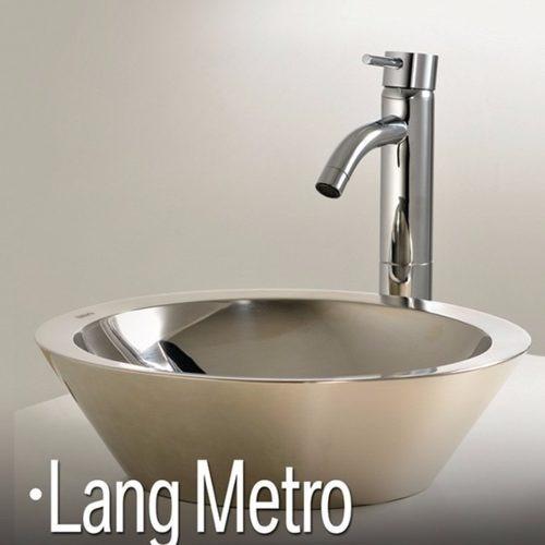bacha baño apoyo korb acero lang metro pulido