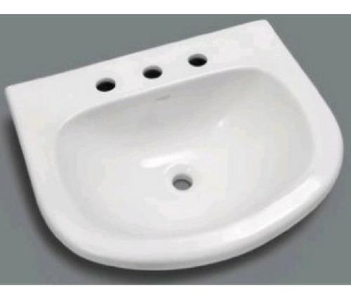 bacha baño pringles p/ vanitory 50 cm 3 agujeros blanca loza