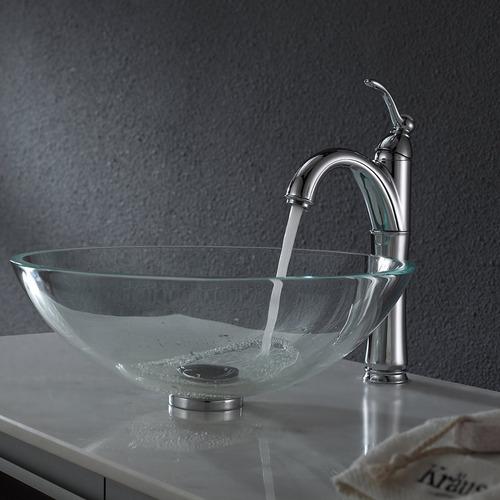 bacha baño vidrio