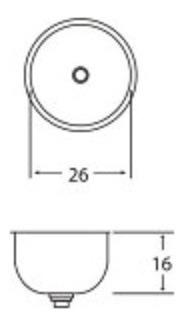 bacha cocina simple danubio drm26 acero inoxidable lavatorio