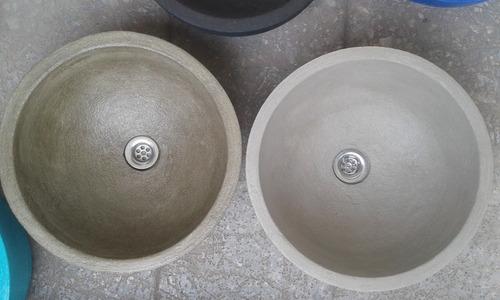 bacha de apoyo cemento pulido