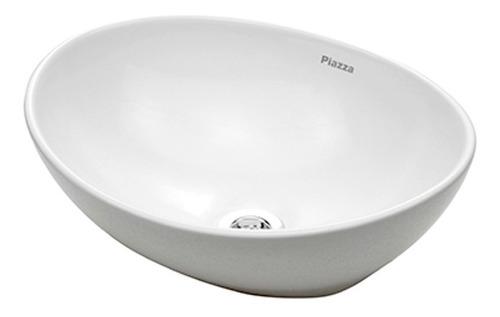 bacha de apoyo de loza oval baño piazza a082 410x330x145