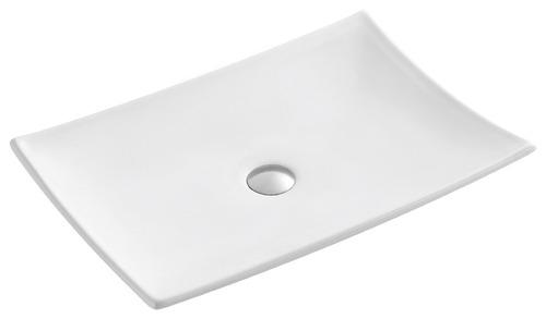 bacha de apoyo de porcelana blanca blade 60x40