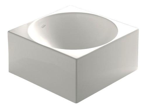 bacha de apoyo ferrum cubo para baño blanca