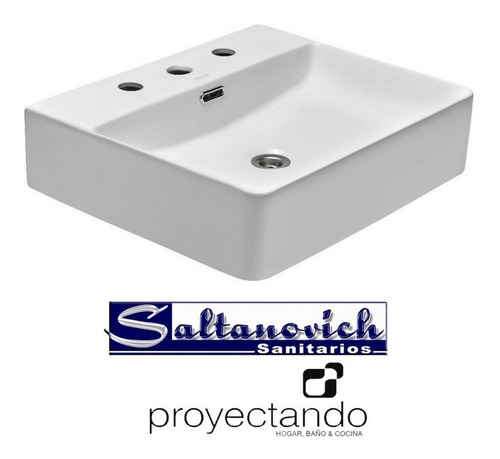bacha de apoyo peirano bch033 rectangular 3 agujeros