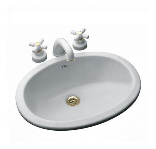 bacha de baño ferrum imola oval de embutir blanca lmhf loza