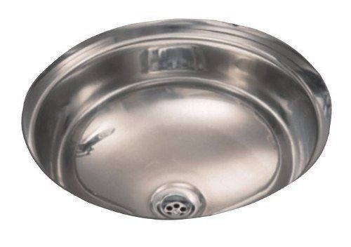 bacha de baño redonda johnson acero inoxidable 30x13,5 cm