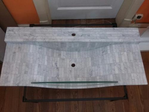bacha de marmol de carrara