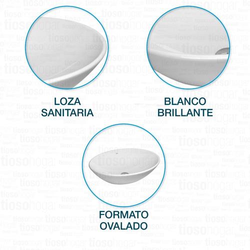 bacha de porcelana deca l68 apoyo oval ovalada apoyar promo