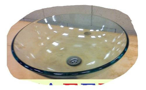 bacha de vidrio templado transparente de apoyo 32cm naffull