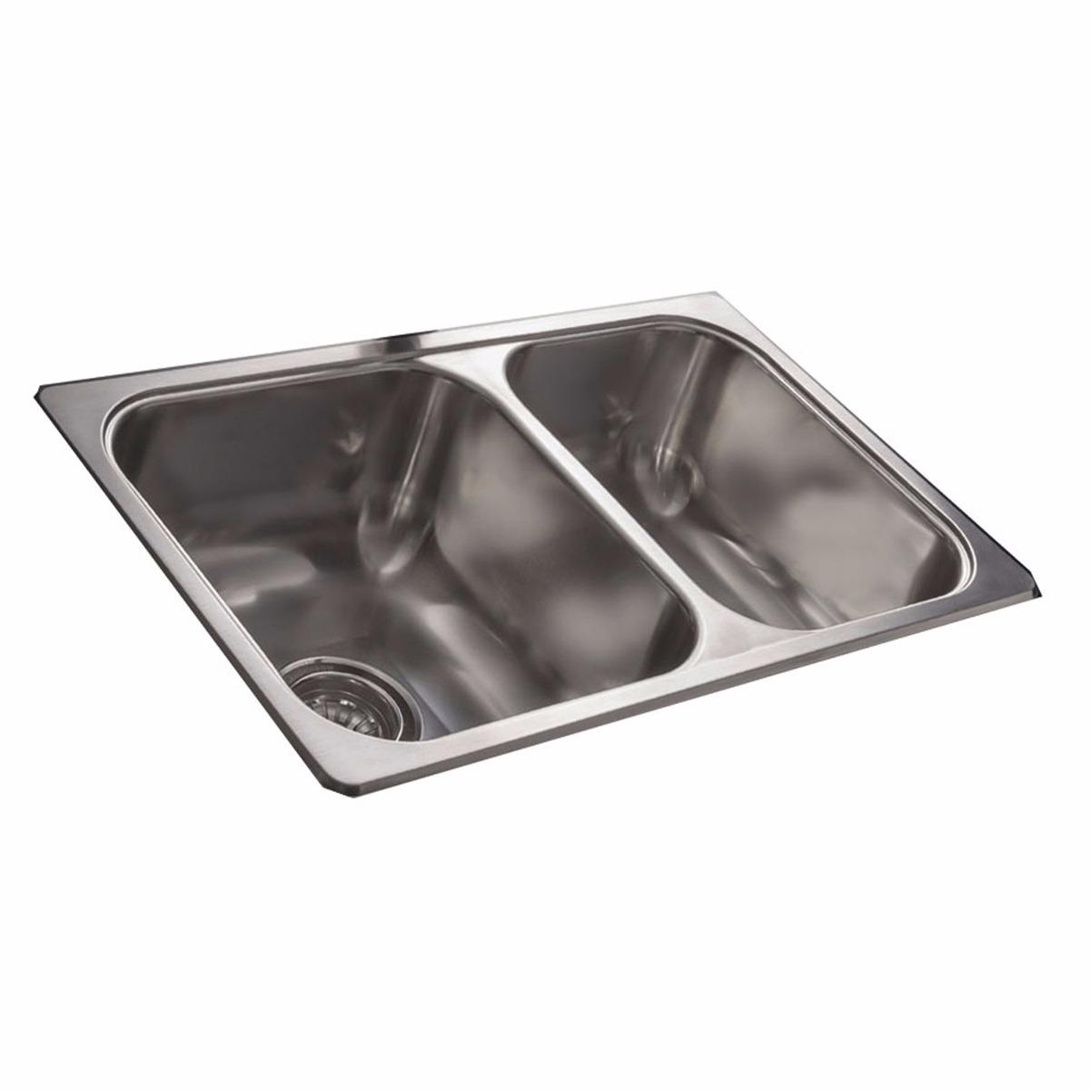 bacha doble johnson r63 18 f cocina mesada acero inoxidable. Cargando zoom. 768930935515