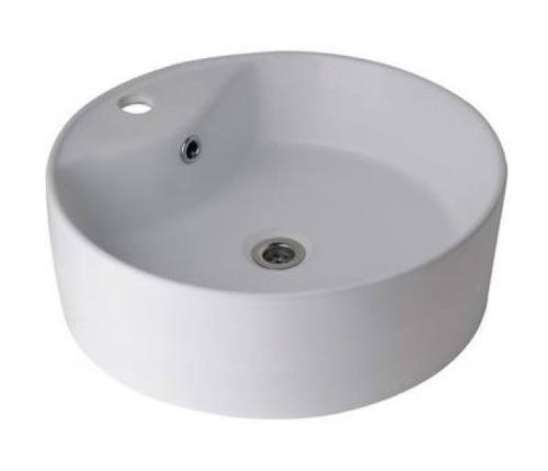 bacha embutir cuadrada 50cm porcelana 3 agujeros baño loza