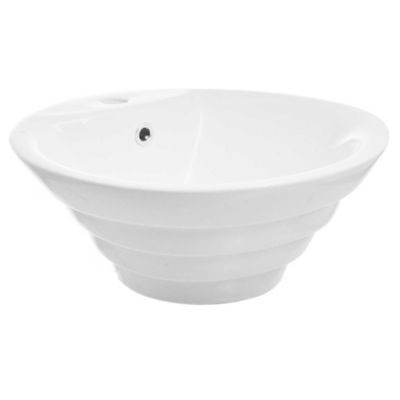 bacha embutir cuadrada 60cm porcelana 3 agujeros baño loza