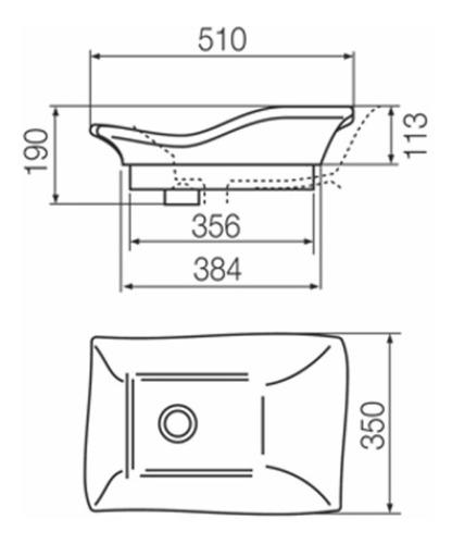 bacha ferrum de apoyo tori ondulada rectangular 51x35