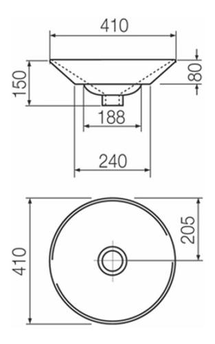 bacha ferrum l241k b armónica cónica de apoyar redonda 41cm